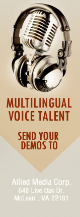 Voice over talent Hiring