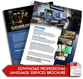 Professional Language Services for Production